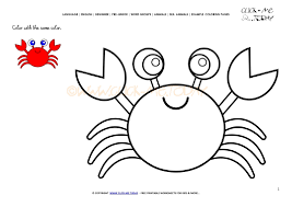 Coloring Page Crab Color Picture Of Crab Crab Coloring Page