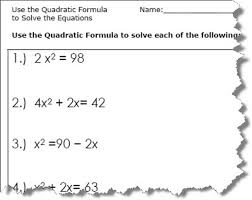 use the quadratic formula to solve the equations quadratic