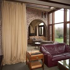 Living Room Divider Ideas Interior Room Divider Curtain To Make Separate Your Living Space