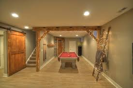 rustic basement ideas contemporary rustic finished basement with reclaimed barn beams