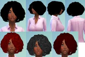 the sims 4 natural curly hair ebonix ts4 cc reblogs sims 4 afro curl
