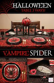 halloween dinner party table 3 ways black widow spider theme