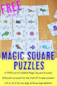 Magic Square Worksheet 228 Best Magic Square Puzzles Images On Pinterest Puzzles Fast