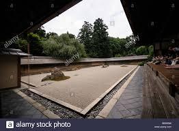 karesansui dry landscape rock garden ryoan ji temple of the