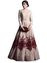 model dress royal export women s bangalori silk semi stitched anarkali suit