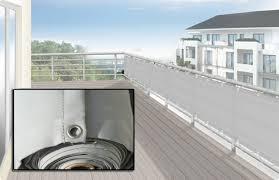 sichtschutz balkon grau balkonverkleidung umrandung 65 x 500 cm farbe hell silbergrau