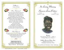 memorial service programs templates free funeral program borders clip 36