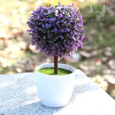 artificial flower grass tree table flowers small potted