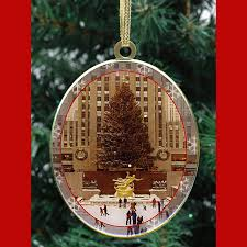 new york trees ornaments gift set ny