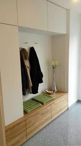 garderobe modern design garderobe in eiche massiv und weiß matt modern flur münchen