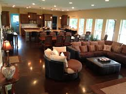 Small Open Floor Plan Ideas Open Concept Kitchen Dining Room Floor Plans Wood Floors