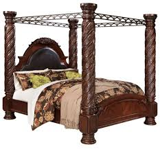 North Shore Cal King Poster Bed With Canopy From Ashley Coleman - California king size canopy bedroom sets