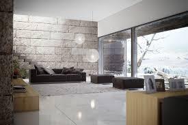 Marble Home Decor Excellent Brick House Interior Design Featuring Concrete Staircase