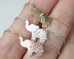 jewelry personalized elephant jewelry etsy