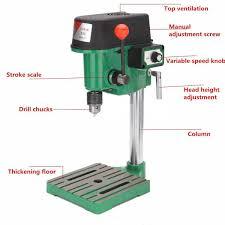 bench drill press stand base frame bracket machine hole drilling