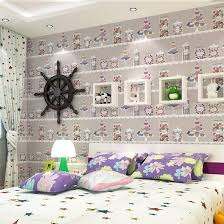 warm kids room purple pure paper wallpaper living room bedroom