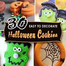 Icing To Decorate Cookies 30 Easy To Decorate Halloween Cookies