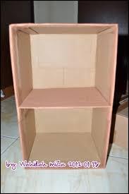 cara membuat lemari buku dari kardus bekas rak serbaguna dari kardus bekas mizu lil secret
