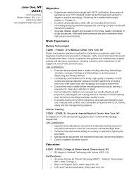 Computer Science Resume No Experience Guide American Society For Clinical Laboratory Science Medical