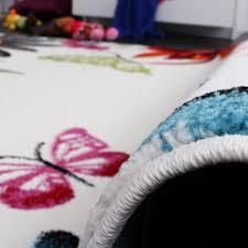 teppich kinderzimmer teppich kinderzimmer schmetterling bunt kinderteppich butterfly