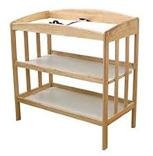 natural wood changing table amazon com la baby 3 shelf wooden changing table natural