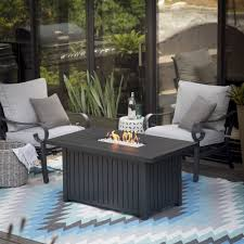 Outdoor Propane Fire Pit Amazon Com Endless Summer Aaron Slate Lp Fire Table Patio