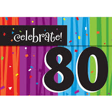 80 party invitations milestone celebrations 80th birthday invitations 8pk walmart com