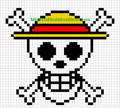 minecraft pixel art templates straw hat luffy adventure time