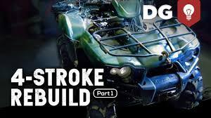 4 stroke rebuild kawasaki brute force part 1 youtube