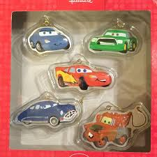 disney cars set of 5 ornaments