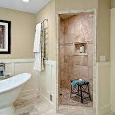 Fiberglass Wainscoting Bathroom Outstanding Roman Shower For Bathroom Design Ideas