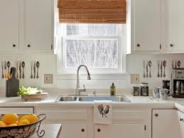 Backsplash Ideas For White Kitchens Kitchen Gorgeous White Kitchen With Apron Sink And Laminate