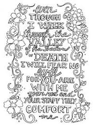 ps 23 4 bw coloring printable bookmarks psalm 23