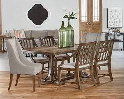 iron trestle dining table magnolia home