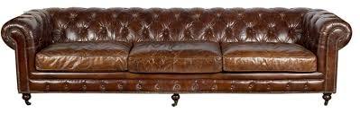 canapé chesterfield cuir vintage 5 places l 303 cm villa demeure