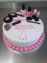 make up themed 21st birthday cake crumbs cake shop sheffield