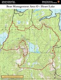 Map Of Yellowstone National Park Bear Management Area O Heart Lake Map Yellowstone National Park