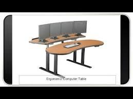 Ergonomic Computer Desk Ergonomic Computer Table Youtube