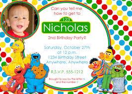 Personalized Invitation Card For Birthday Free Printable Sesame Street Birthday Invitations Personalized