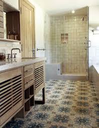 patterned tile bathroom and match patterned tiles for a unique décor