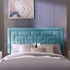 Linen Upholstered King Headboard Handy Living Davinci King California King Blue Linen Upholstered