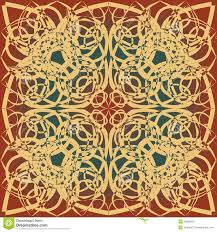 Art Deco Design Decorative Background Tile In Art Deco Design Beige Brown Red