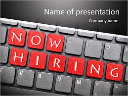 now hiring on keyboard powerpoint template u0026 backgrounds id