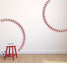 amazon com large baseball seams stitching vinyl wall art decal amazon com large baseball seams stitching vinyl wall art decal for homes offices kids rooms nurseries schools high schools colleges universities