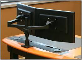 computer desk for dual monitors two monitor computer desk modelthreeenergy