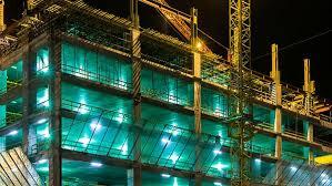 temporary job site lighting electrical construction materials lighting