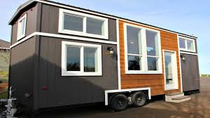 Modern Small Home Modern Tiny House Built In Entertainment System Centered Kitchen