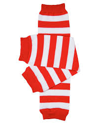 amazon com red u0026 white stripe baby leg warmers for boys and girls