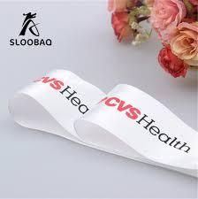 custom ribbon with logo custom ribbon logo printed pack decoration brand logo polyester