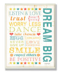 this u0027dream big u0027 wall art by the kids room by stupell is perfect